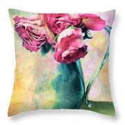 Still Life Roses Throw Pillow