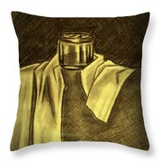 Still Life Vase And Fabric 1 Throw Pillow
