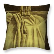 Still Life Vase And Fabric 3 Throw Pillow