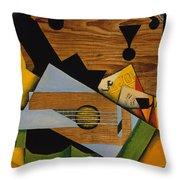 Still Life With A Guitar Throw Pillow