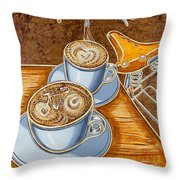 Still Life With Bicycle Throw Pillow