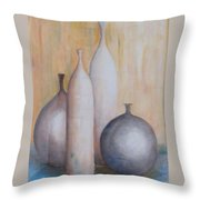 Still Life With Bottles Throw Pillow