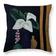 Still Life With Calla Lilies Throw Pillow