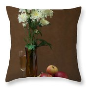 Still Life With Chrysanthemums Throw Pillow