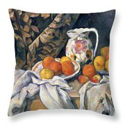 Still Life With Drapery Throw Pillow