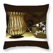 Still Life With Golden Vase Throw Pillow