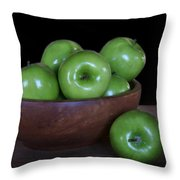 Still Life With Green Apples Throw Pillow