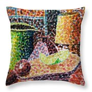 Still Life With Green Jug Painting Throw Pillow