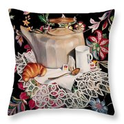 Still Life With Lace Throw Pillow