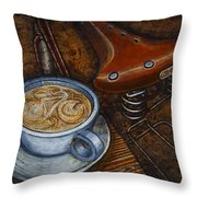 Still Life With Ladies Bike Throw Pillow by Mark Jones