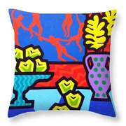 Still Life With Matisse Throw Pillow