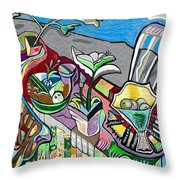Still Life With Clouds Throw Pillow