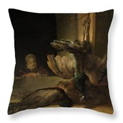 Still Life With Peacocks Throw Pillow