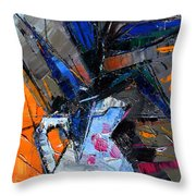 Still Life With Pink Peony In White Vase Throw Pillow