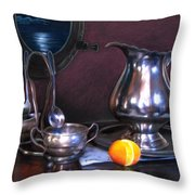 Still Life With Porthole Throw Pillow