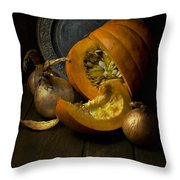 Still Life With Pumpkin Throw Pillow