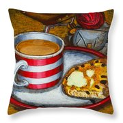 Still Life With Red Touring Bike Throw Pillow by Mark Howard Jones