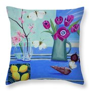 Still Life With Sea View Sold Throw Pillow