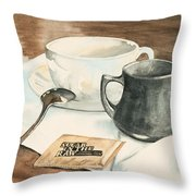 Still Life With Sugar Throw Pillow