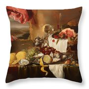 Still Life With View Throw Pillow