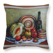 Still Life With Water Melon Throw Pillow