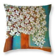 Still Life With White Flowers Throw Pillow