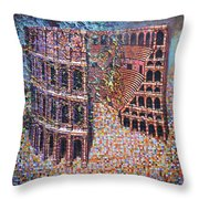 Still Stadium Throw Pillow by Mark Jones