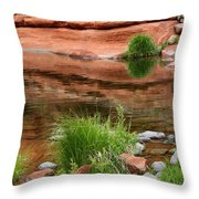 Still Waters At Slide Rock Throw Pillow