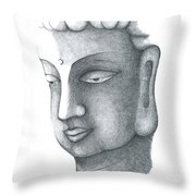 Stillness Throw Pillow by Keiko Katsuta