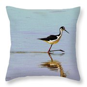 Stilt Out For A Stroll Throw Pillow