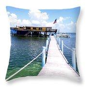 Stiltsville Dock Throw Pillow