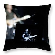 Sting Of The Police On Video Throw Pillow