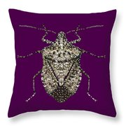 Stink Bug Bedazzled Throw Pillow