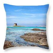 Stintino Beach Throw Pillow