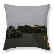 Stirling Castle And The Parking Area For The Castle Throw Pillow