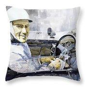 Stirling Moss Throw Pillow by Yuriy  Shevchuk