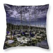 Stirring The Sky Throw Pillow