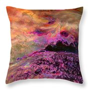 Stirrings In The Sea Throw Pillow by Shirley Sirois