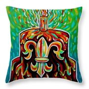 Stl250 Fleur De Lis Cake Payne Gentry House 2 Throw Pillow