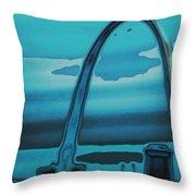 St.louis Arch Throw Pillow