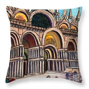 St.mark's Square Throw Pillow