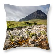 Stob Dearg Mountain Throw Pillow