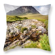 Stob Dearg Peak Throw Pillow