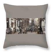 Stock Brokers, C1902 Throw Pillow