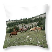 Stock Wrangling In Throw Pillow