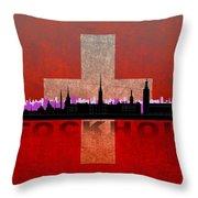 Stockholm City Throw Pillow