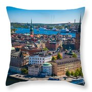 Stockholm From Above Throw Pillow