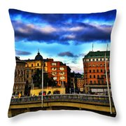 Stockholm In Color Throw Pillow