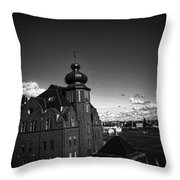 Stockholm In Dark Black And White Throw Pillow