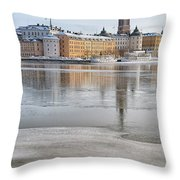 Stockholm Winter Throw Pillow